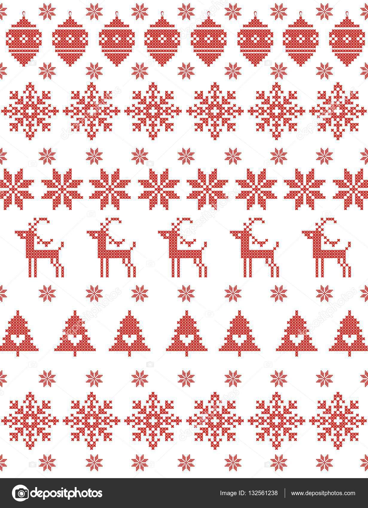 Rojo sin costuras de Navidad fondo de punto — Archivo Imágenes ...
