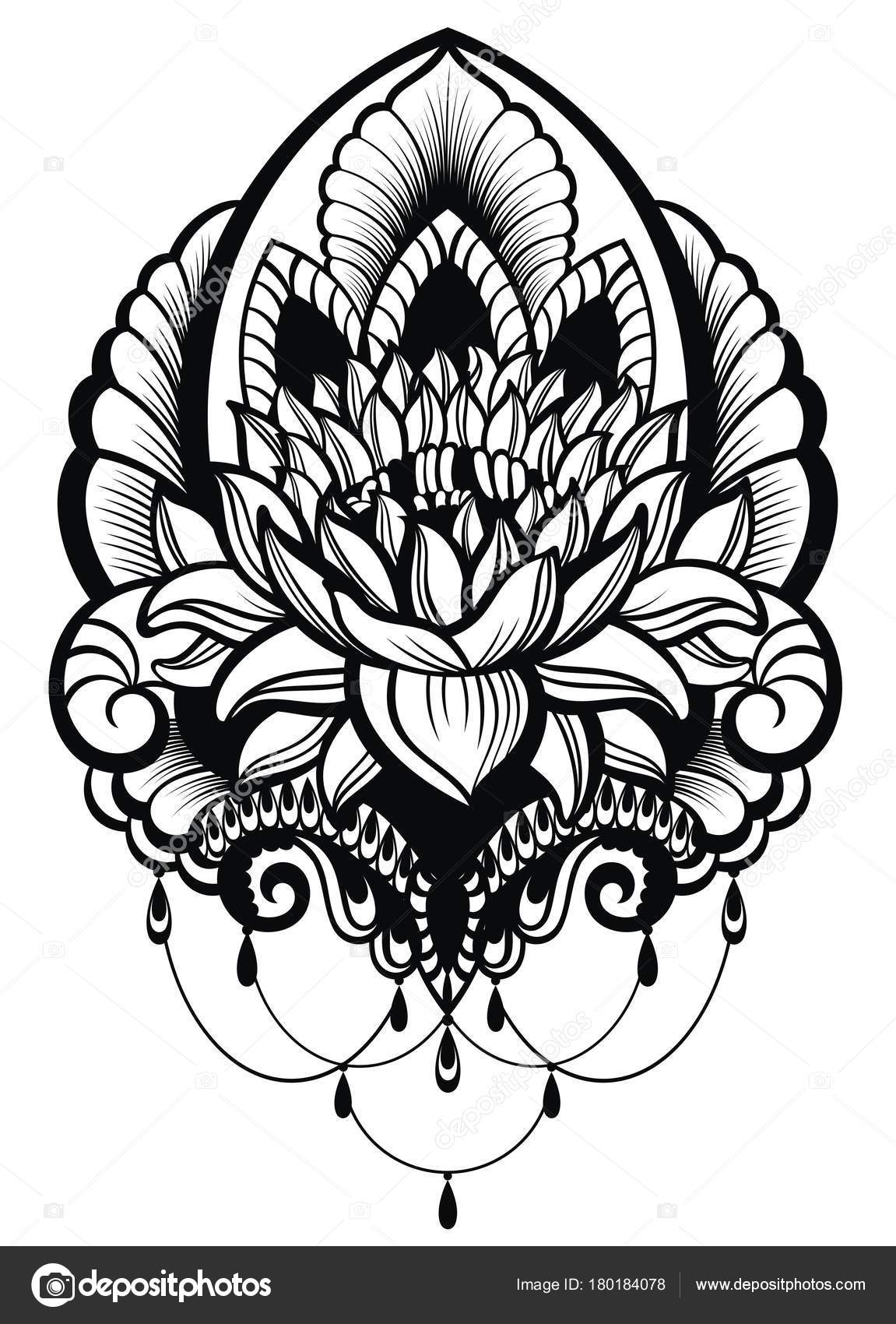 Dibujos Mandalas Flor De Loto Para Imprimir Estilo Oriental