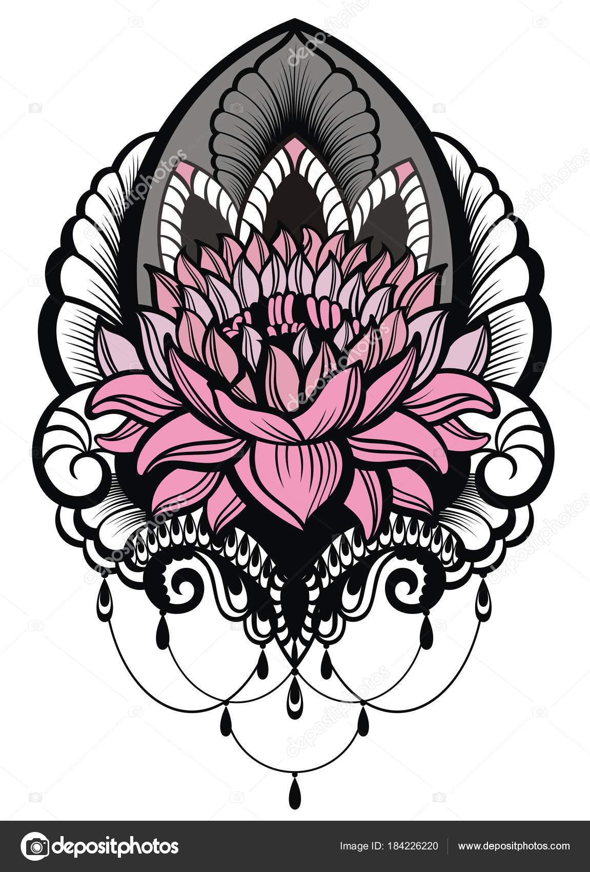 Diseños Flores Orientales Para Tatuar Estilo Oriental Tatuaje Del