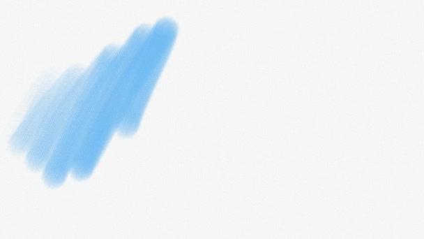 Malerei auf weißem Papier mit blauer Aquarellfarbe.