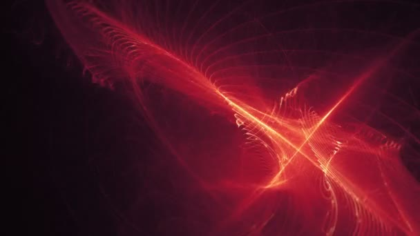 Fancy Light Effects In A Dark Background Stock Footage: Footage Looping Abstract Background Red Light Effects On