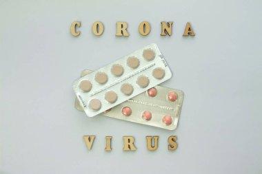 Word coronovirus in wooden letters. Global healthcare concept pandemic virus infection from Wuhan, China. Novel Coronavirus outbreak