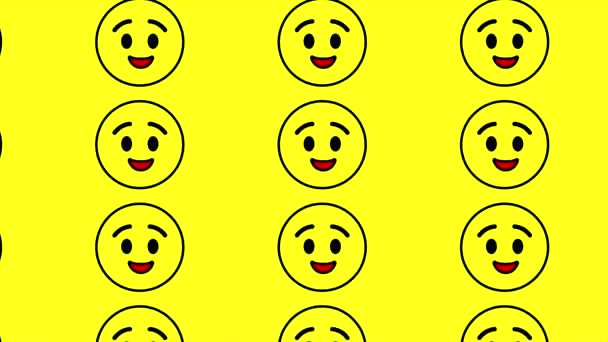 Winking cute smiley faces emoji on yellow background