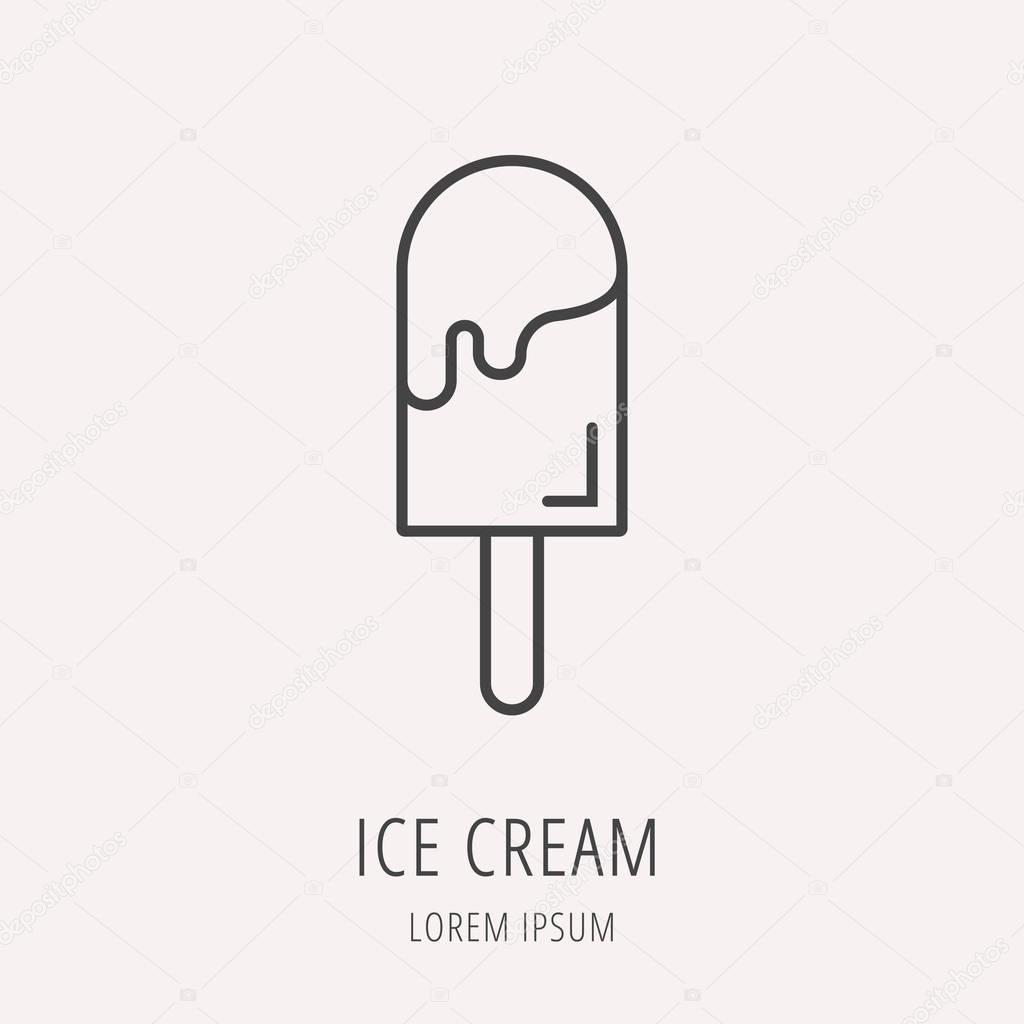 Vector Simple Logo Template Ice Cream — Stock Vector © andrei45454 ...