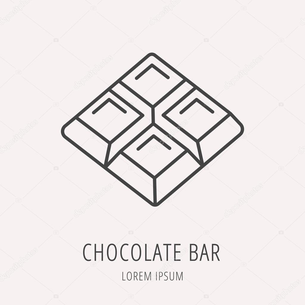 vector simple logo template chocolate bar � stock vector