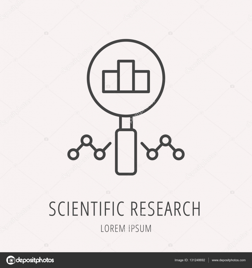 Vector Logo Simple plantilla investigación científica — Archivo ...