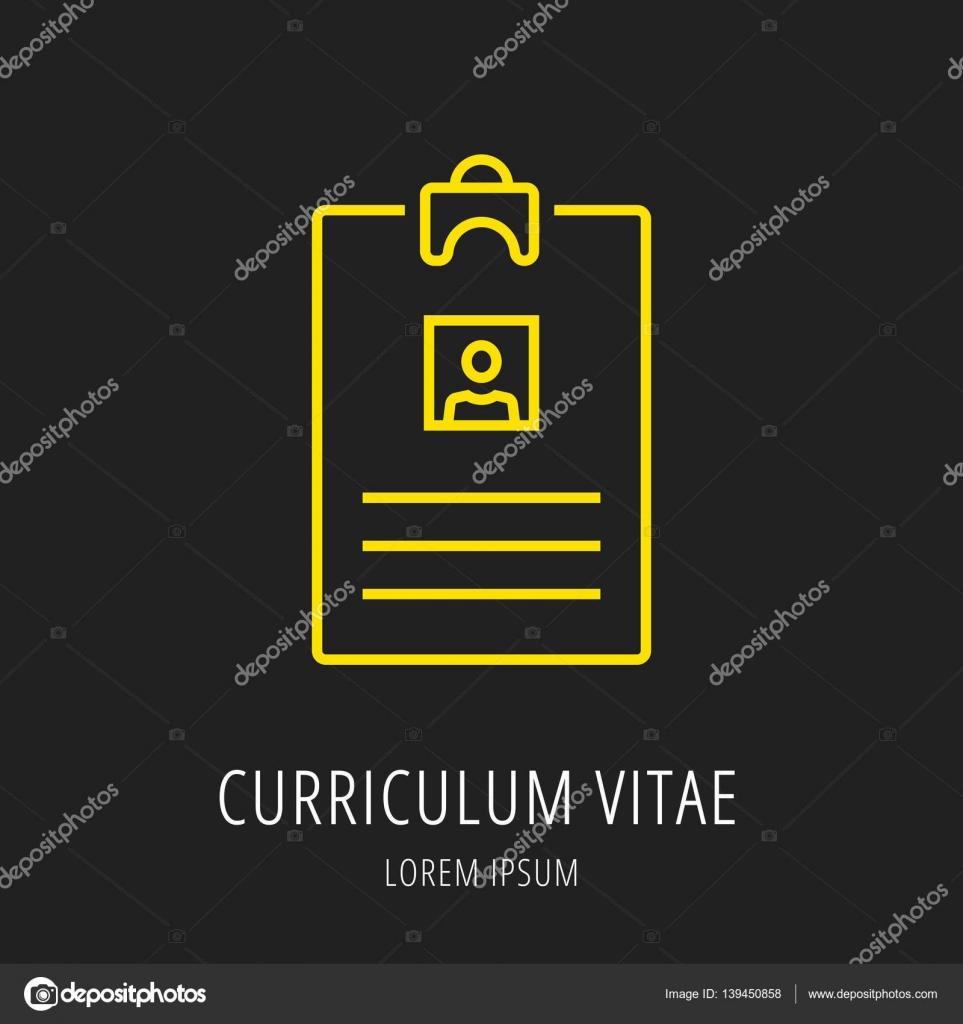 Vector Logo Simple Plantilla Curriculum Vitae Vector De Stock