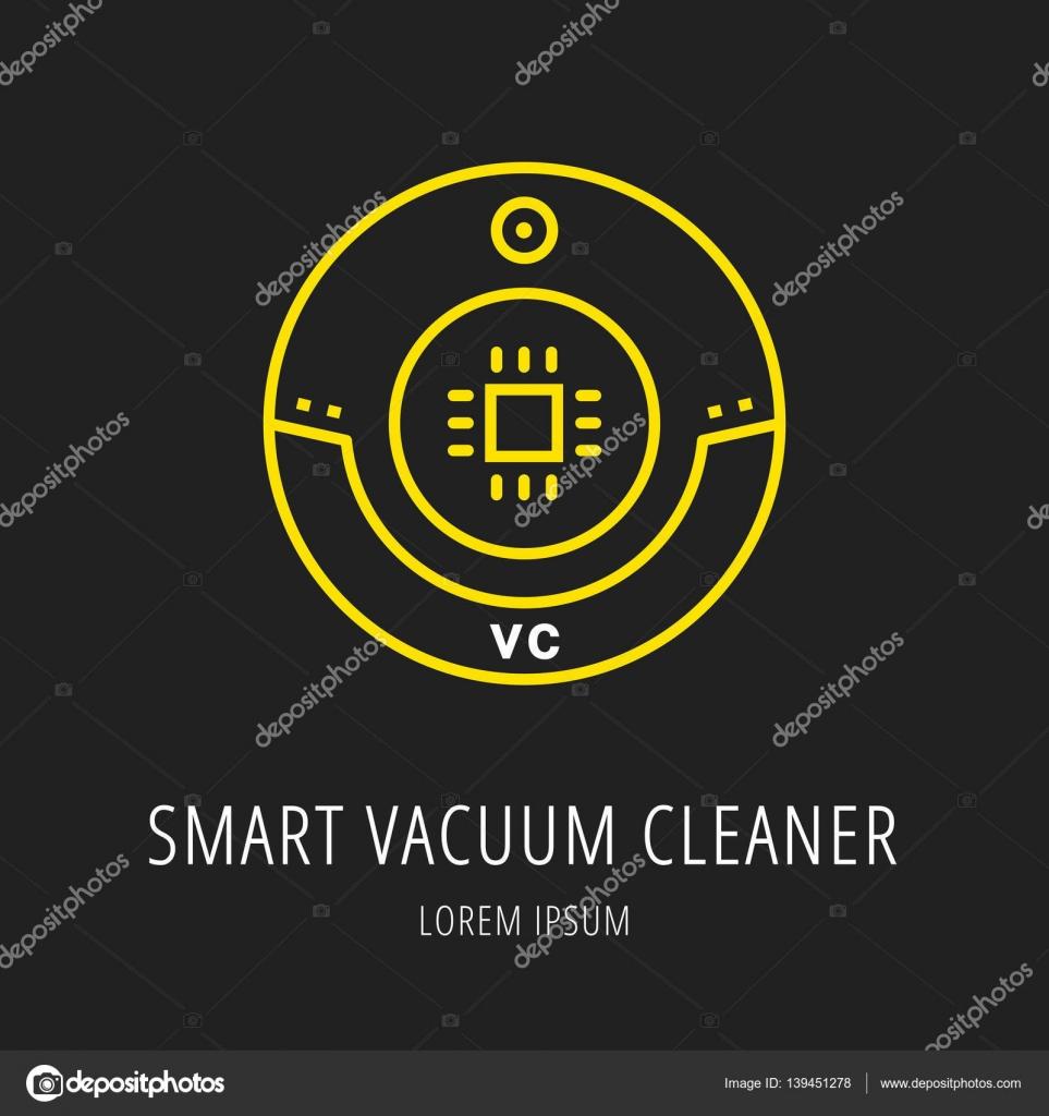Vektor-einfaches Logo Vorlage Smart Staubsauger — Stockvektor ...