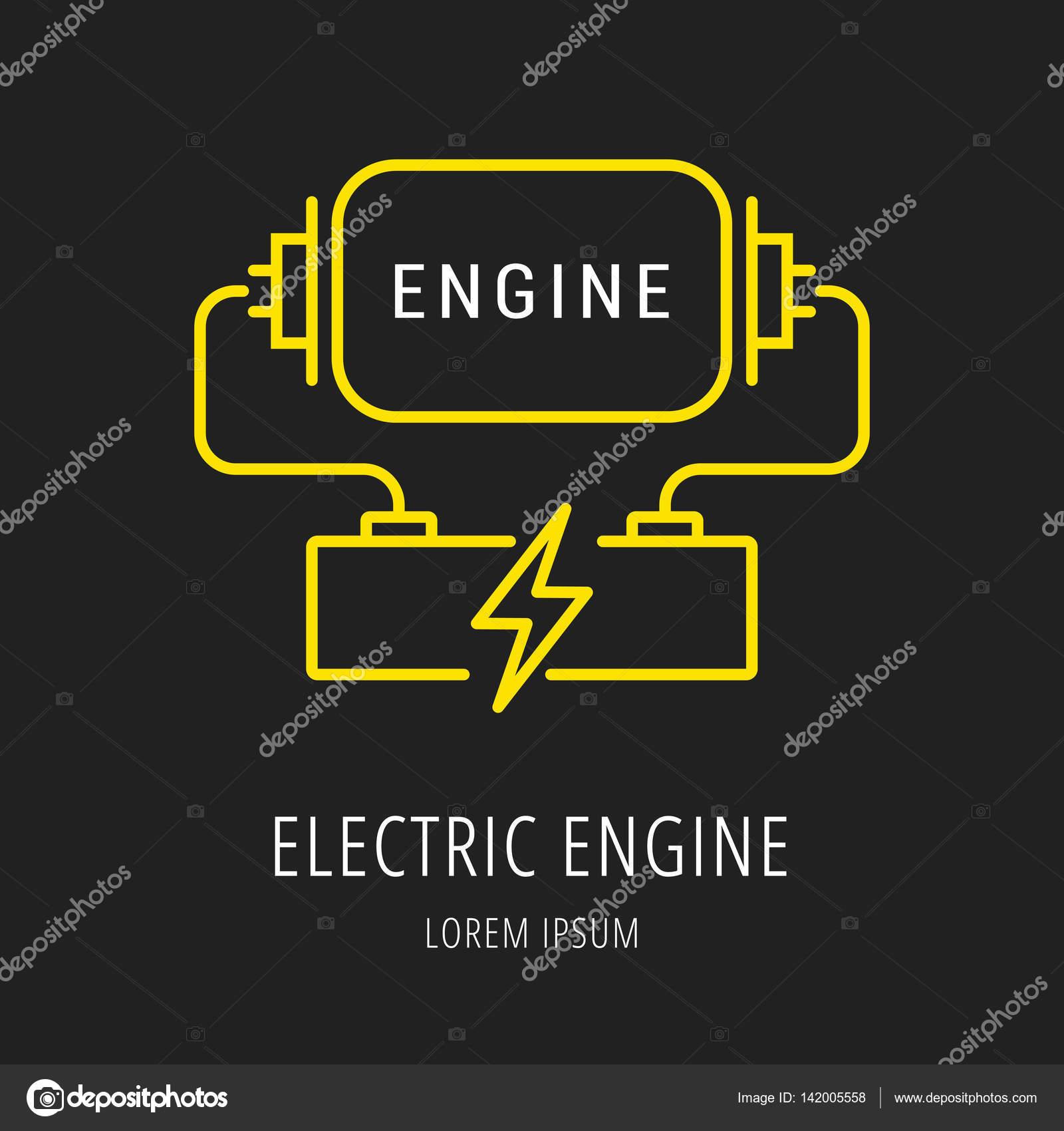 vector simple logo template eco engine \u2014 stock vector © andrei45454