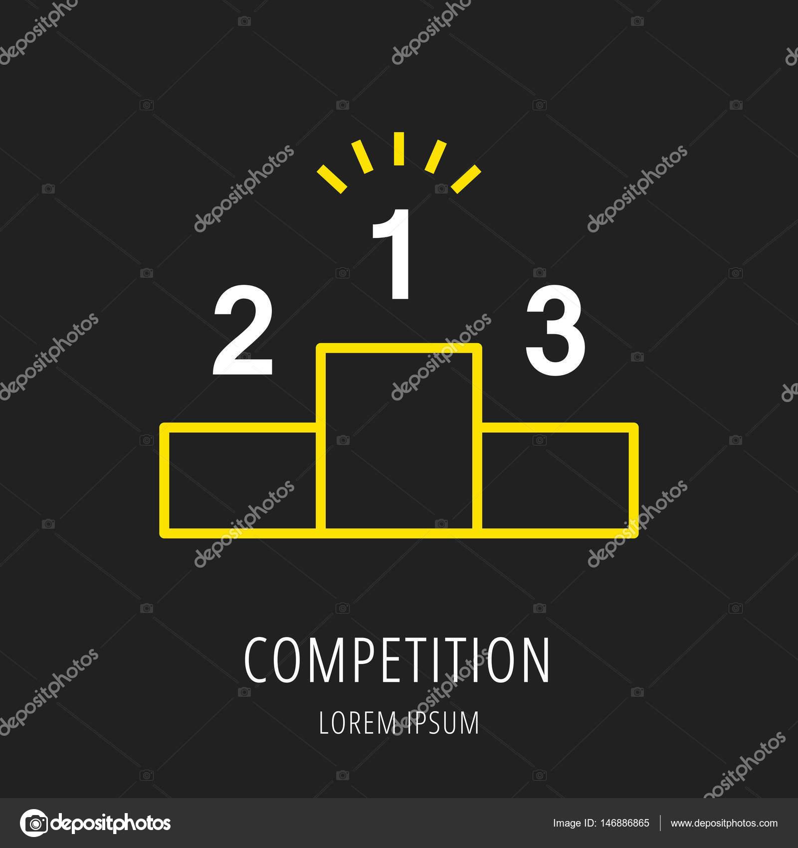 14a1ea9832 Logo nebo popisek konkurence. Logotyp styl čáry. Snadné použití obchodní  šablona. Vektor abstraktní znak nebo znak — Vektor od ...