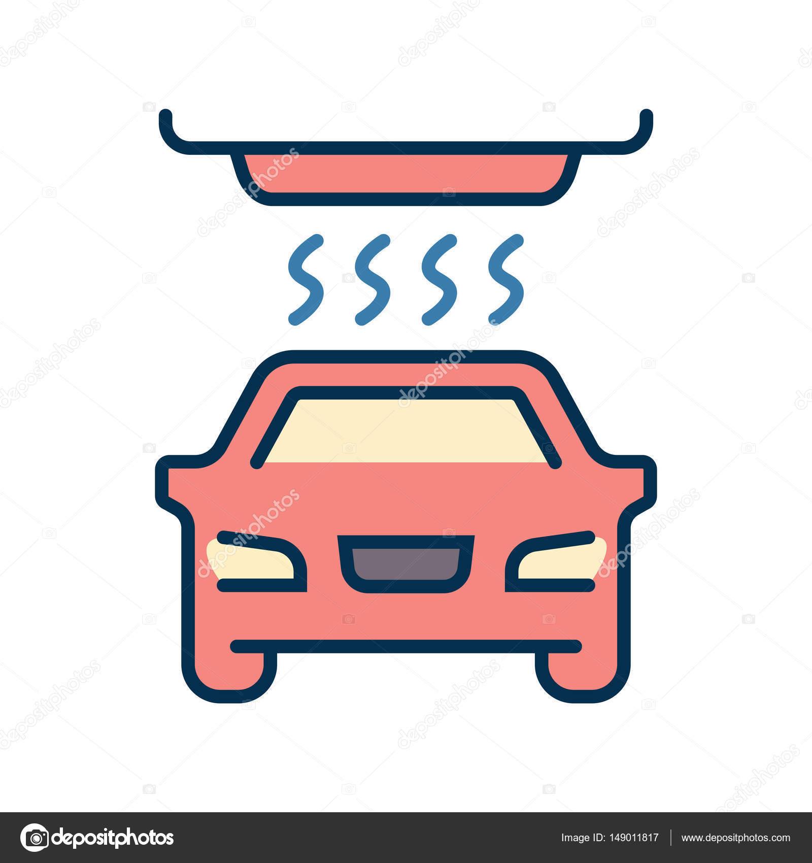 Vektor-einfaches Logo-Vorlage-Auto-Waschanlagen — Stockvektor ...
