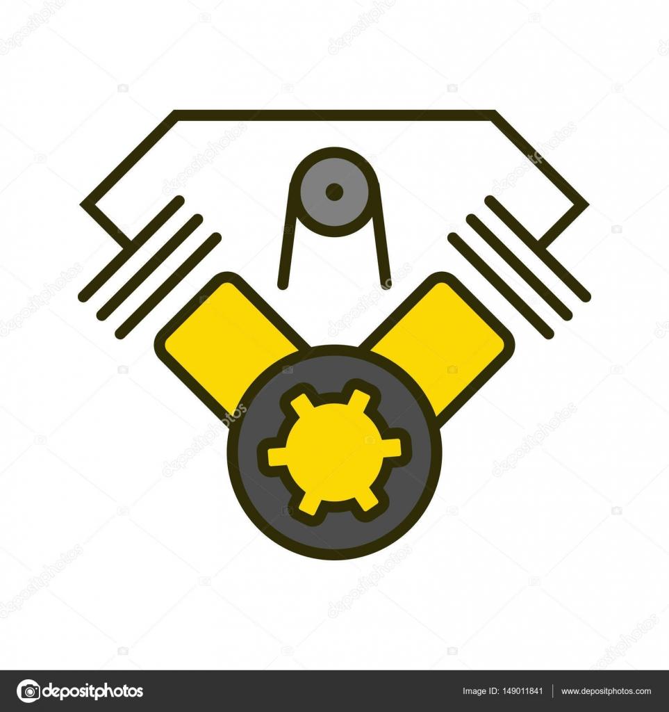 Vektor-einfaches Logo-Vorlage-Motorrad-Motor — Stockvektor ...