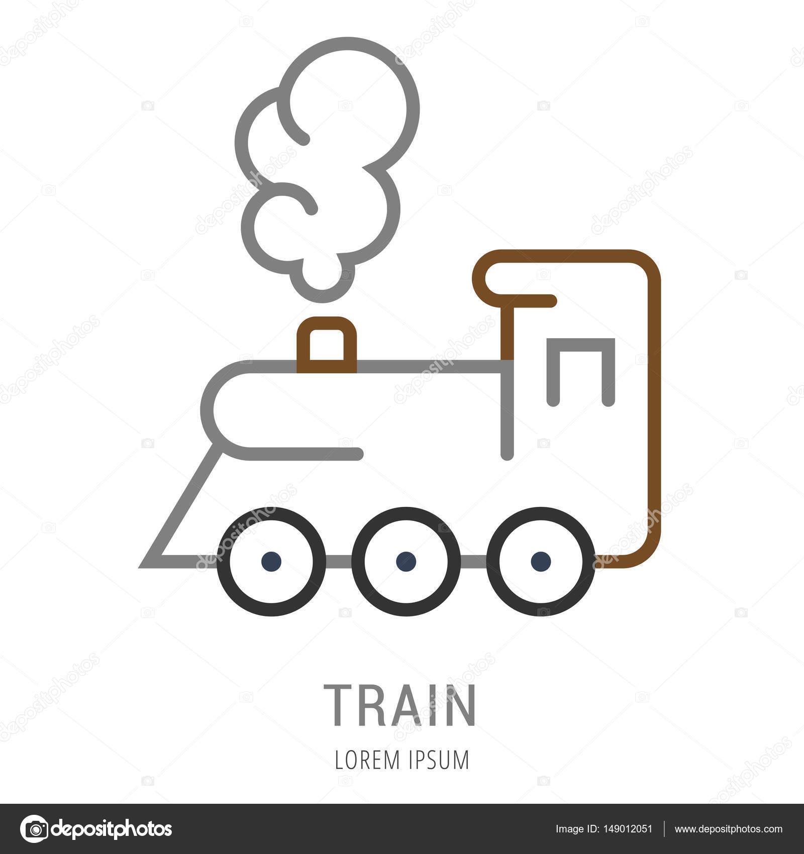 Train Template | Vector Simple Logo Template Train Stock Vector C Andrei45454
