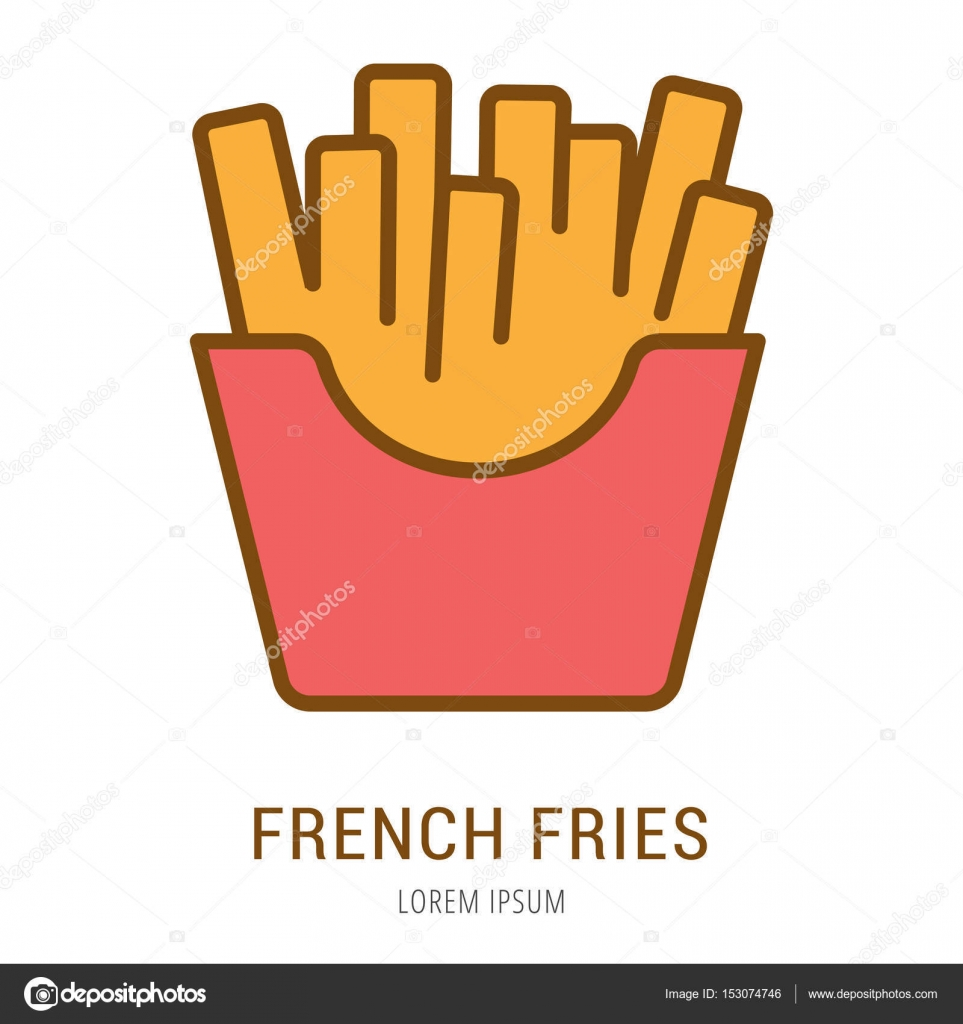 Vector Simple Logo Template French Fries Stock Vector