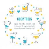 Fotografie Website-Banner und Landing-Page Cocktails