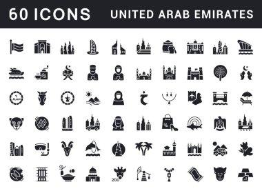 Set of Simple Icons of United Arab Emirates