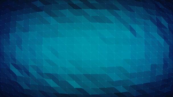 Tmavě modrá mnohoúhelníková mřížka - bezproblémové smyčkové animované pozadí