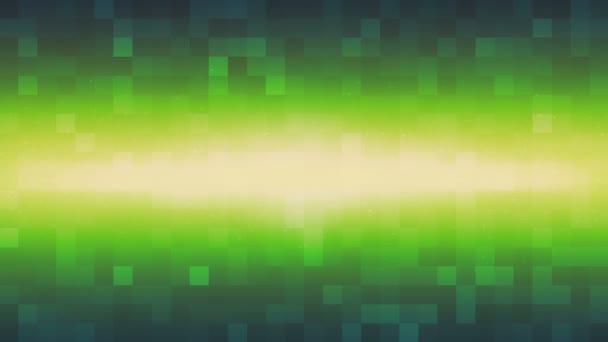 Zářící paprsek a zelené čtverce (smyčka pozadí)