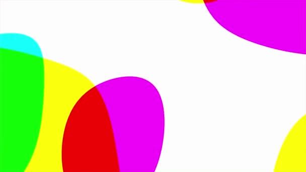 abstrakte schnell fließende lebendige feste flüssige Kleckse. nahtlos looping animierten Hintergrund.