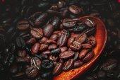 Fotografie Geröstete Kaffeebein Hintergrund