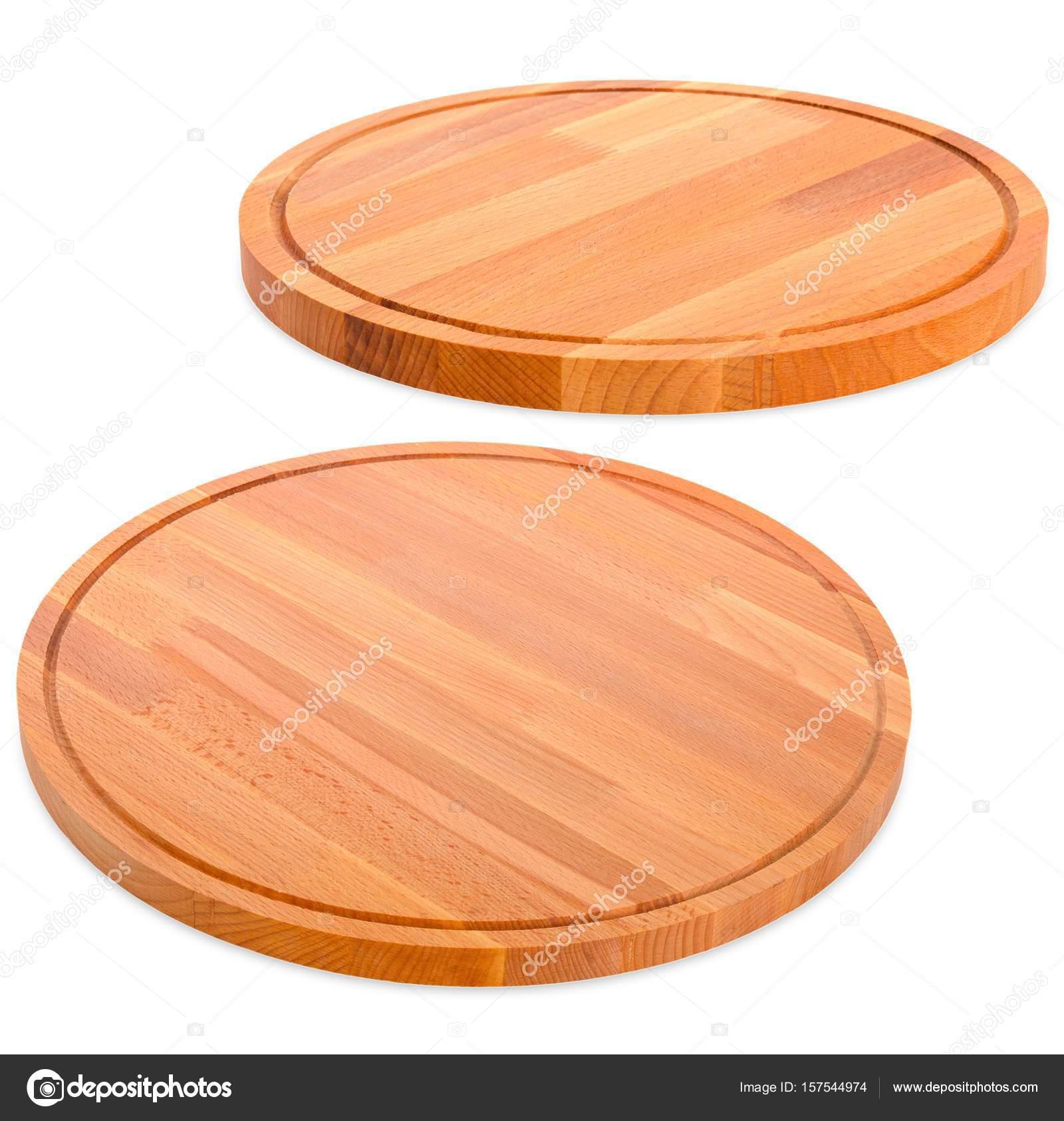 Due rotondi taglieri di legno per la cucina — Foto Stock ...