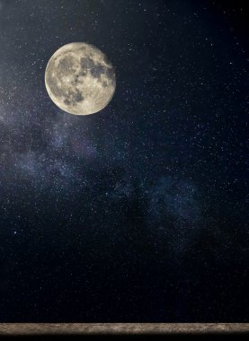 starry night and moon