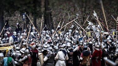 Medieval battle reconstruction in Czech Republic