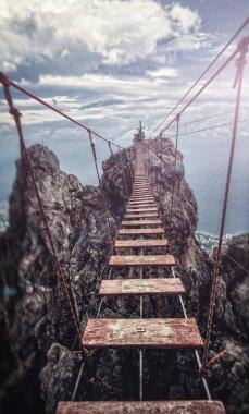 Suspension bridge on the Mount