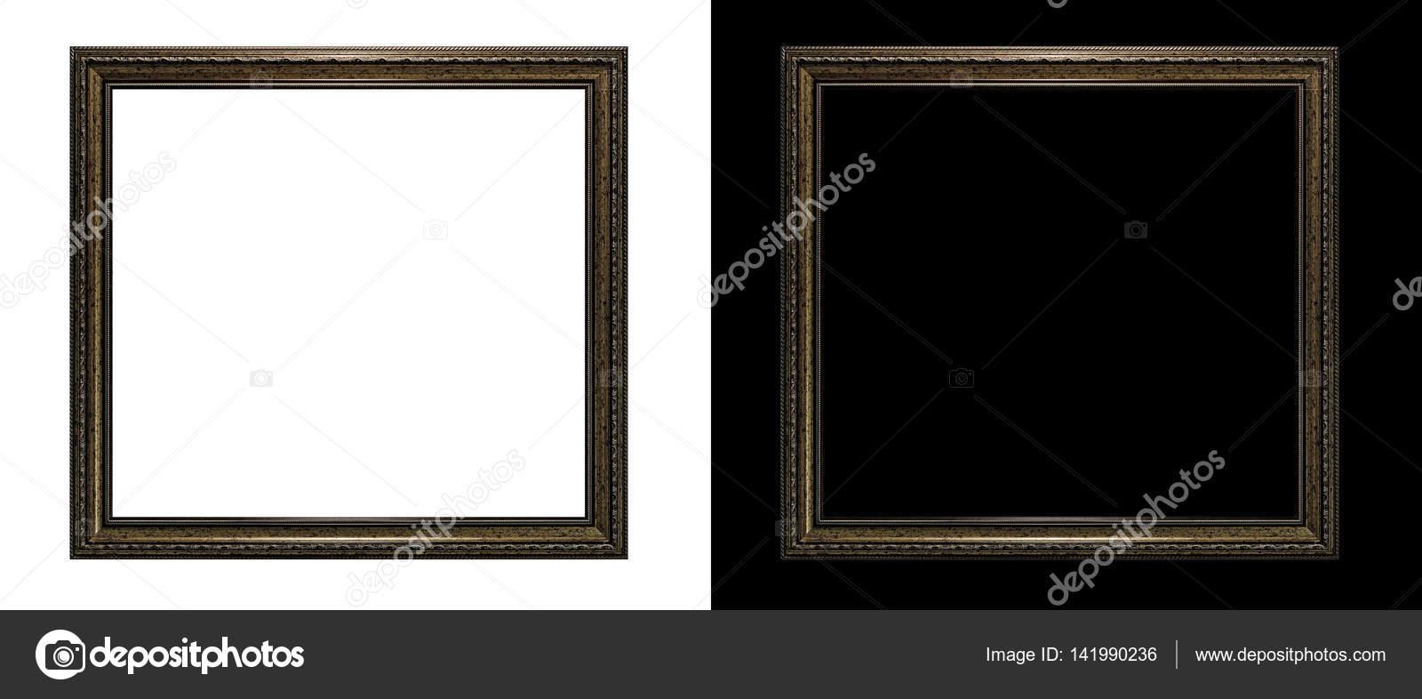 Rahmen im antiken Stil. Edel vergoldete Rahmen - quadratische Form ...