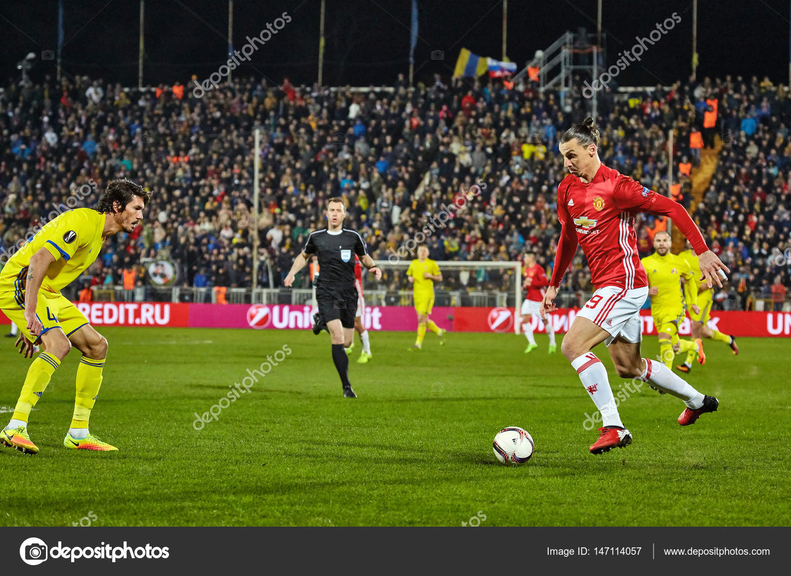81c67206b Zlatan Ibrahimovic (Feyenoord) Game moments in match 1 8 finals of the  Europa League between FC