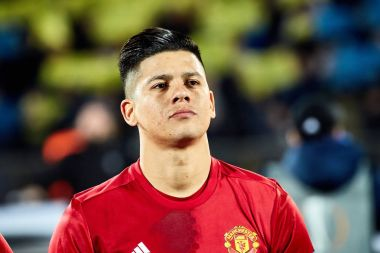 Marcos Rojo in match 1/8 finals of the Europa League