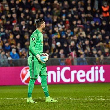 Sergio Romero GK in match 1/8 finals of the Europa League