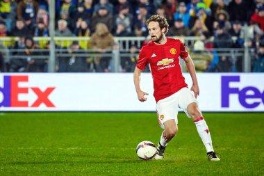 Juan Mata with ball (Attacking midfielder) in match 1/8 finals