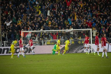 Goal against Manchester United. Game moments in match 1/8 finals of the Europa League