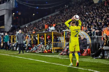Game moments in match 1/8 finals of the Europa League