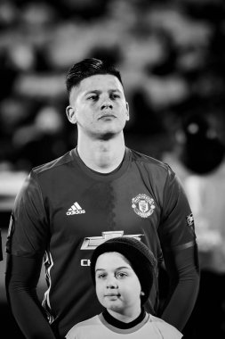 Marcos Rojo in match 1/8 finals of the Europa League between FC