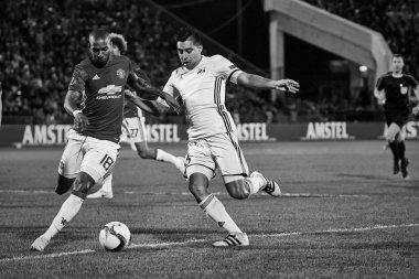Ashley Young, Game moments in match 1/8 finals of the Europa League
