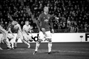 Zlatan Ibrahimovic (Feyenoord) Game moments in match 1/8 finals of the Europa League