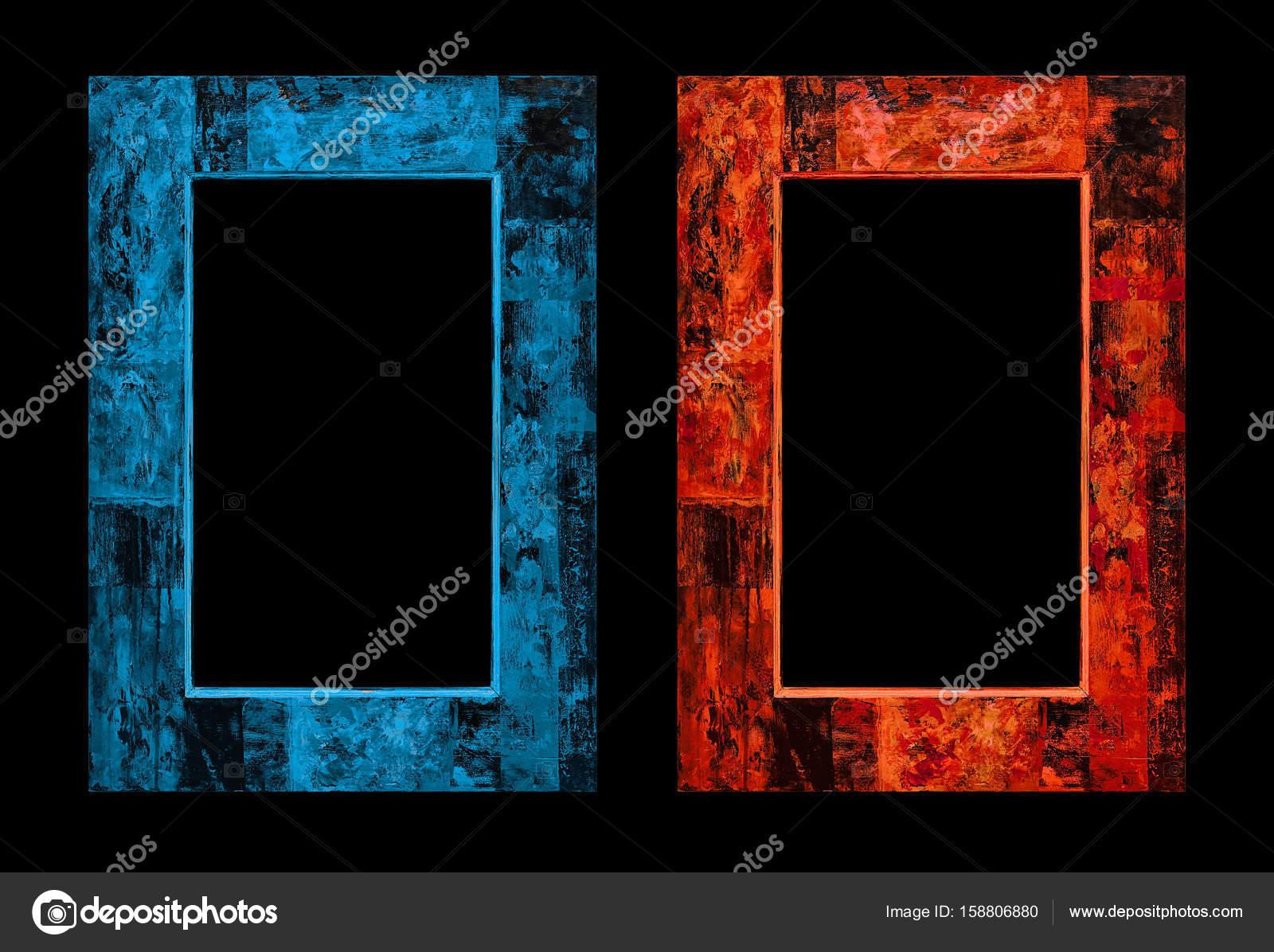 Feuer und Eis-Rahmen im antiken Stil. digitaler Bilderrahmen ...