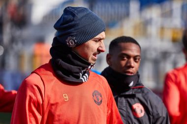 Zlatan Ibrahimovic (Feyenoord) on during training session