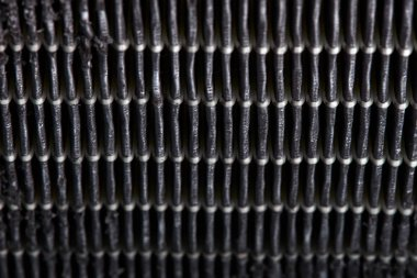 Dirty air filter. High efficiency air filter for HVAC system.