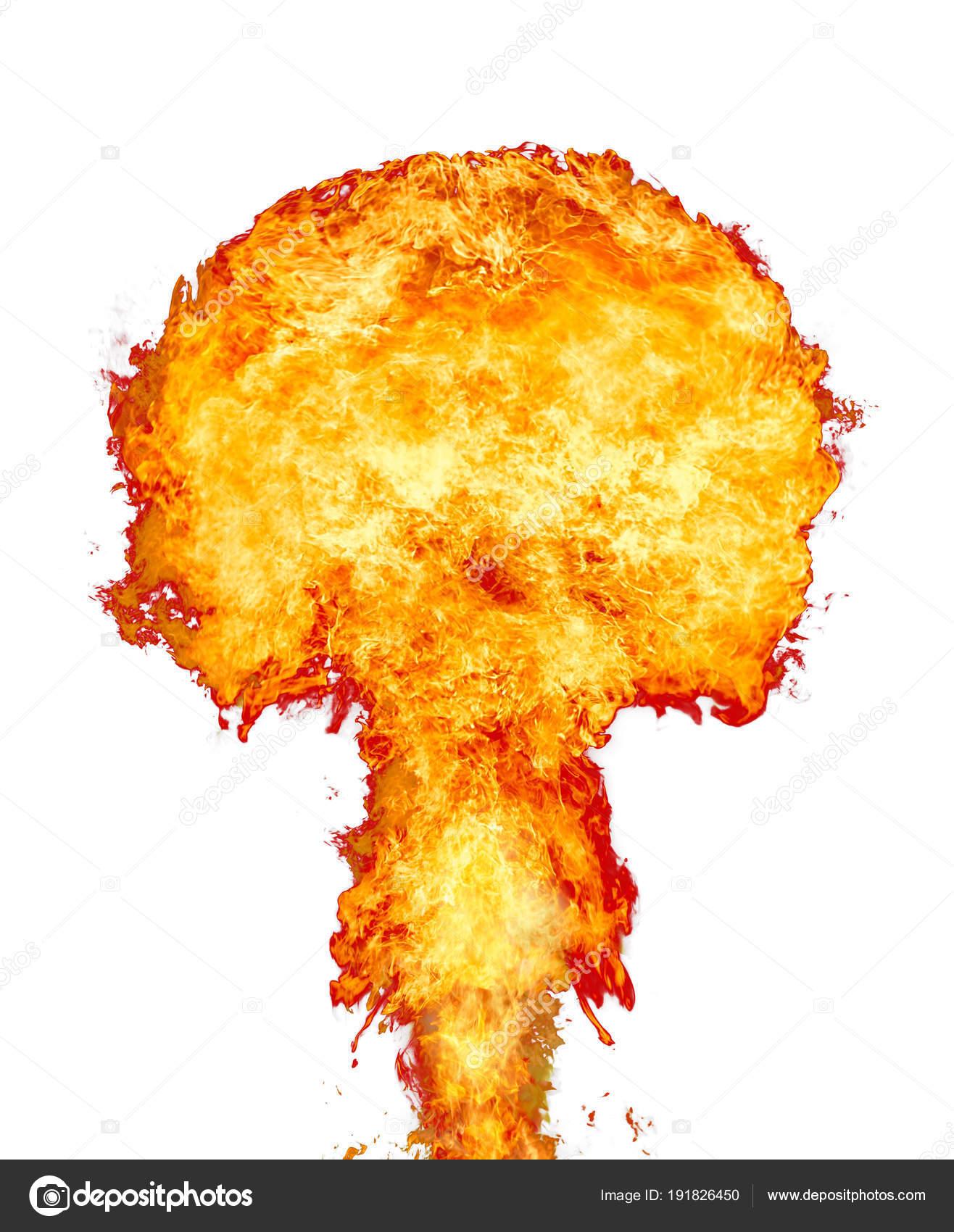 Fire Mushroom From Cloud Fireball Explosion Mushroom An dC5dUq