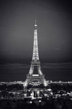 Eiffel Tower in night. Famous historical landmark
