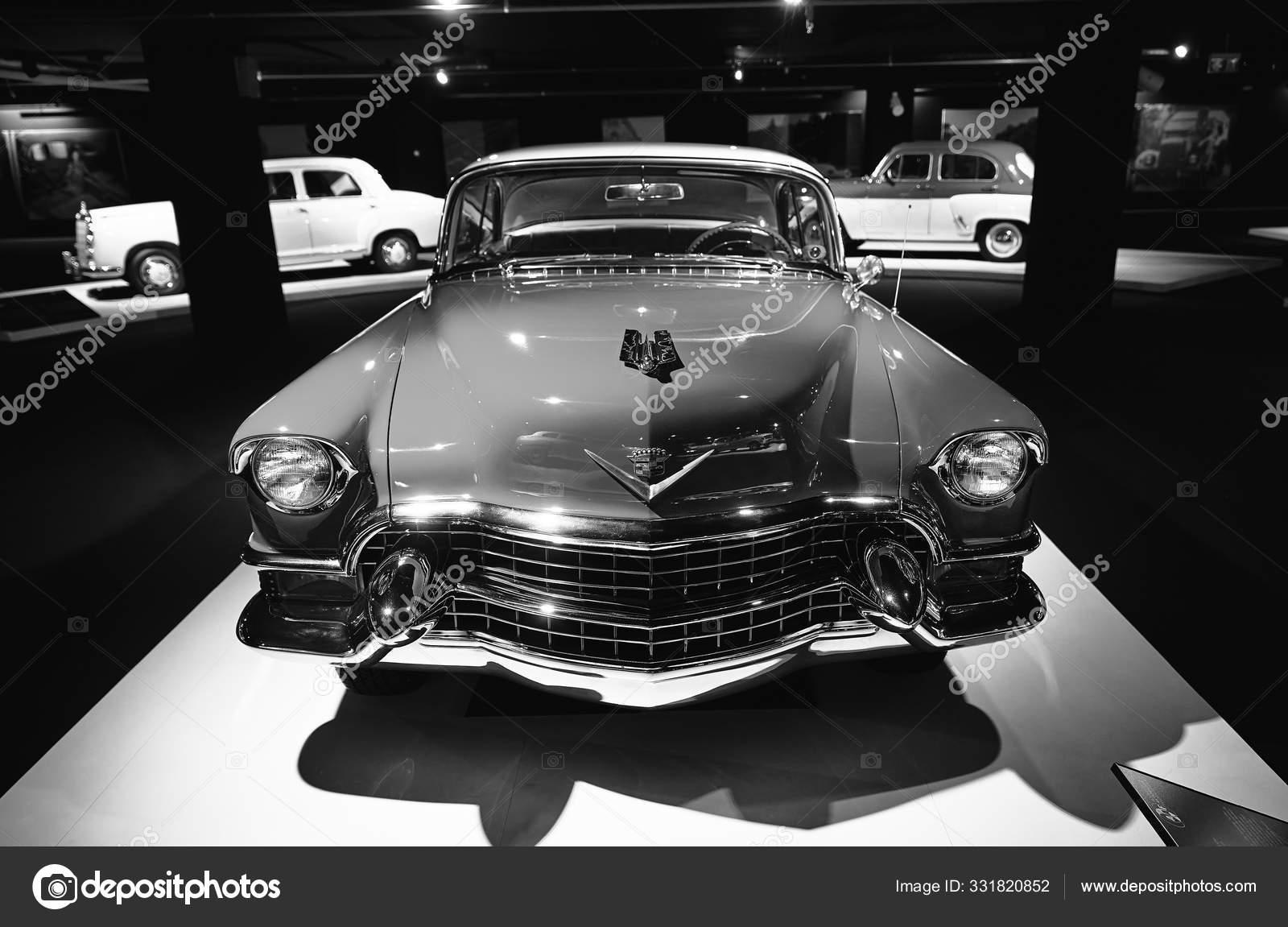 Cadillac Coupe Deville 1955 Retro Car On Exhibition Classic Stock Editorial Photo C Baranov Evgenii 331820852