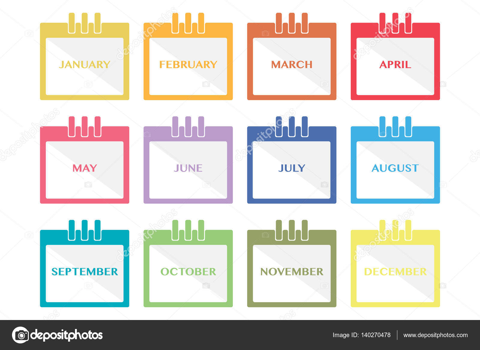 Calendar Monthly Meaning : Months calendar flat icon — stock vector nonchai