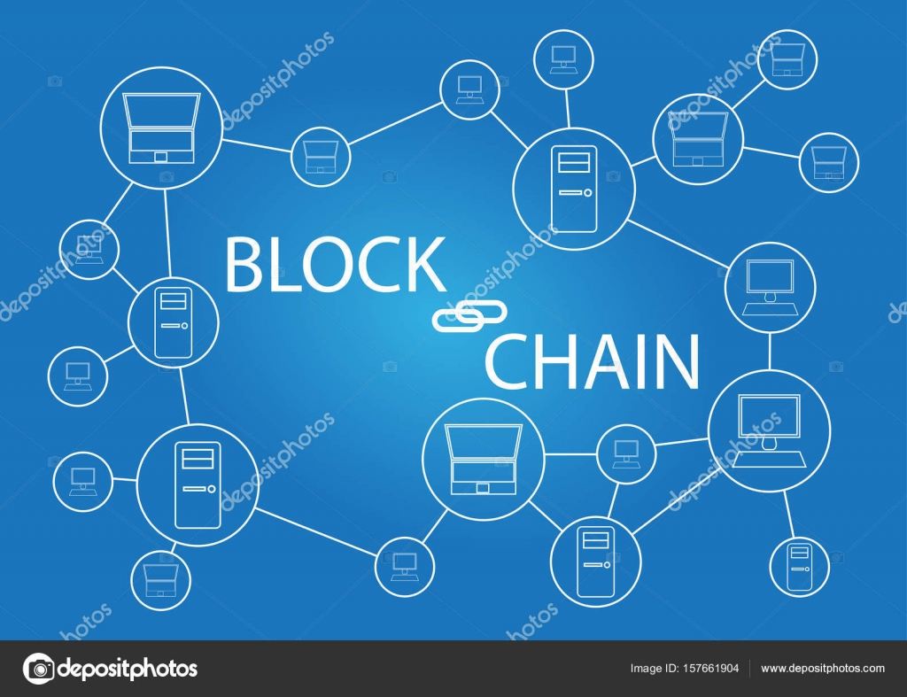 Block chain technology background wallpaper stock vector block chain technology background wallpaper stock vector ccuart Gallery