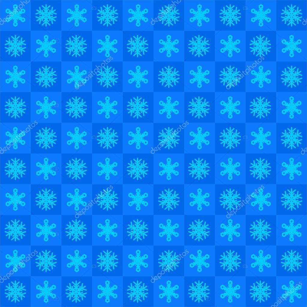 Zimą Niebieskie Tło Z Płatki śniegu W Niebieskie Kwadraty W