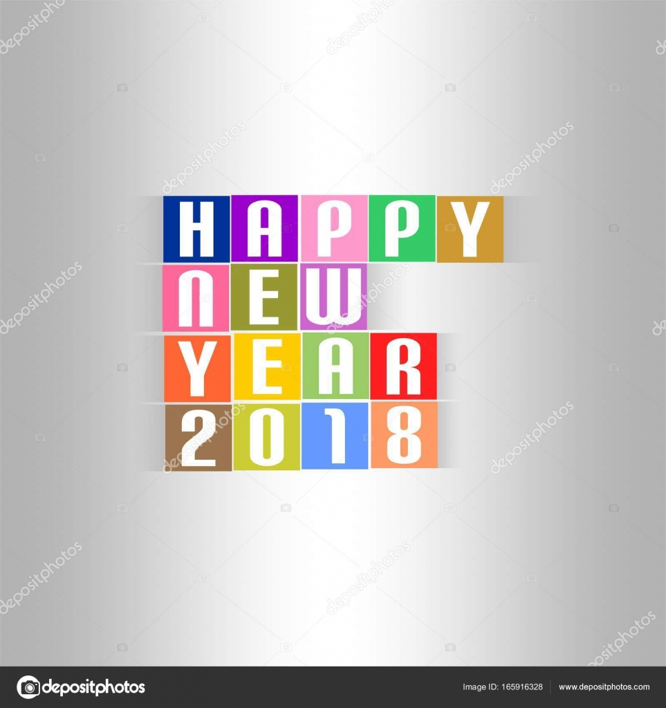 New Year Greetings for 2018 with white lettering happy new year 2018 ...