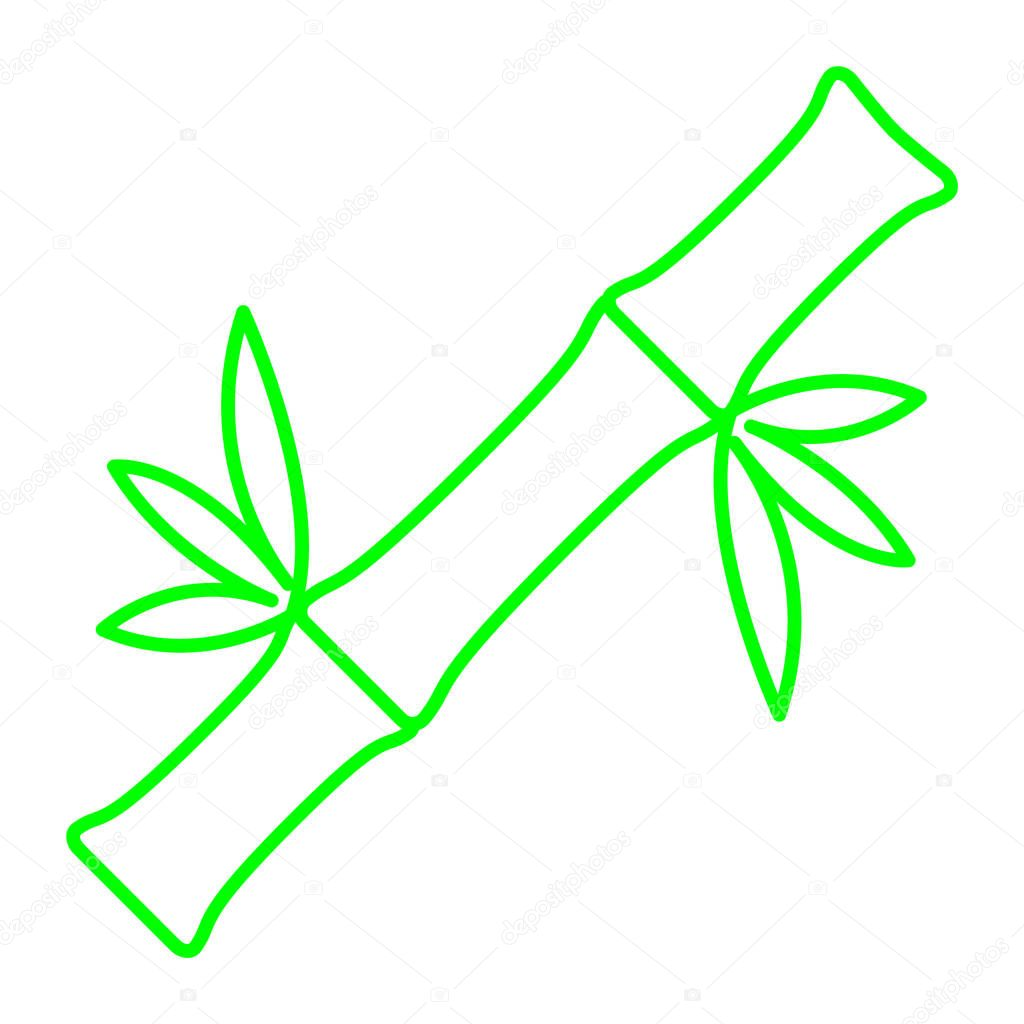 Bamboo plant icon