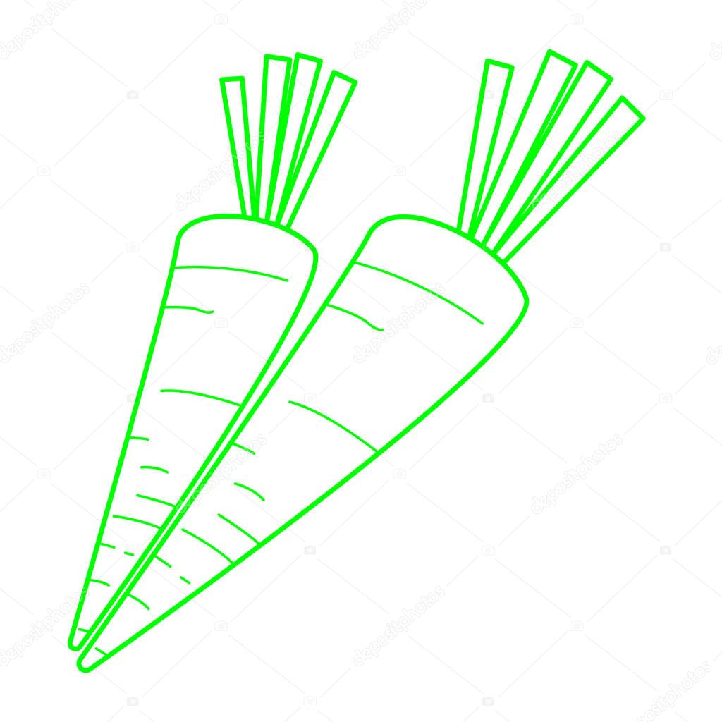 simple carrot icon